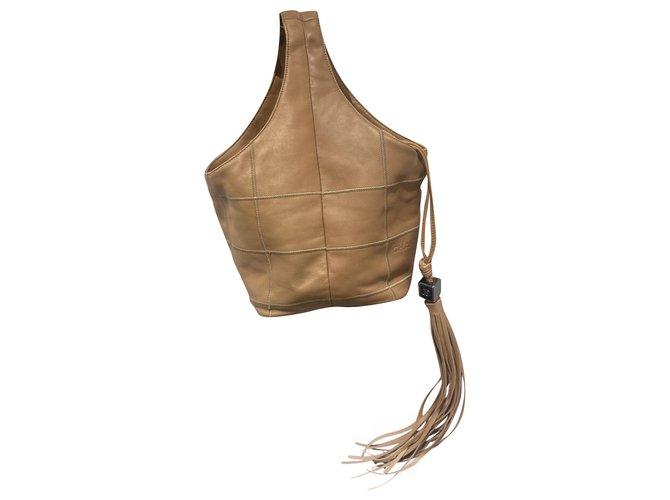Chanel Handbags Handbags Leather Beige ref.254455