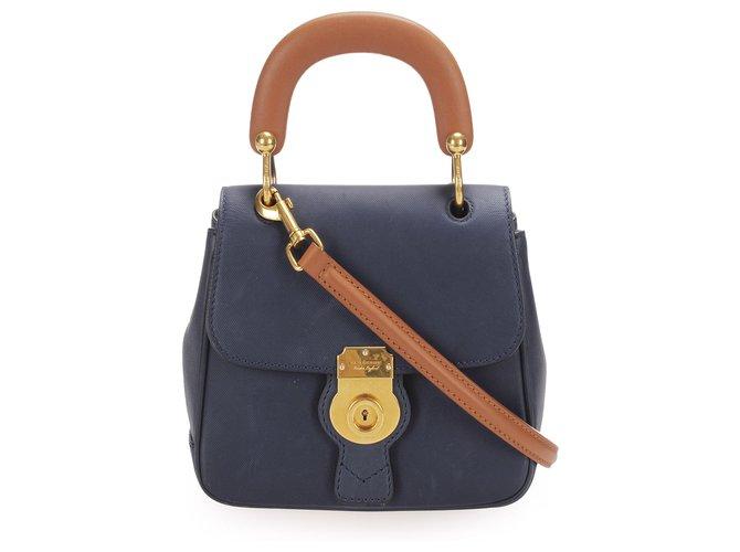 Burberry Burberry Blue DK88 Leather Satchel Handbags Leather,Pony-style calfskin Blue,Dark blue ref.254526