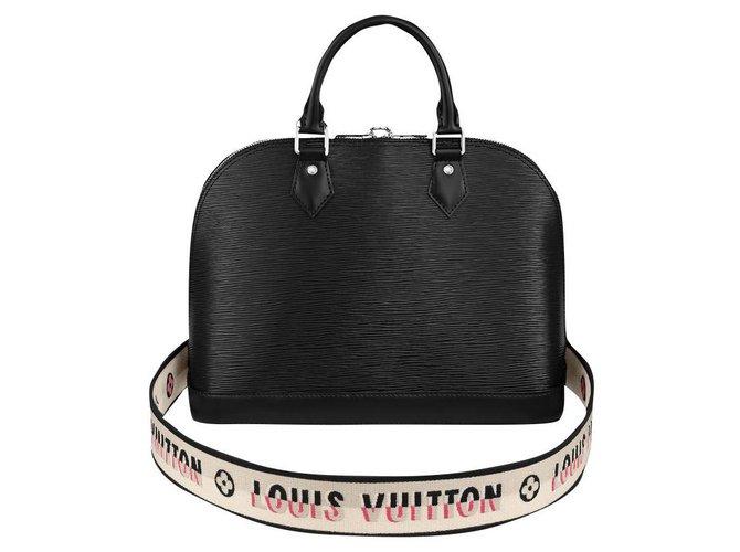 Louis Vuitton LV Alma PM Epi Handbags Leather Black ref.254864