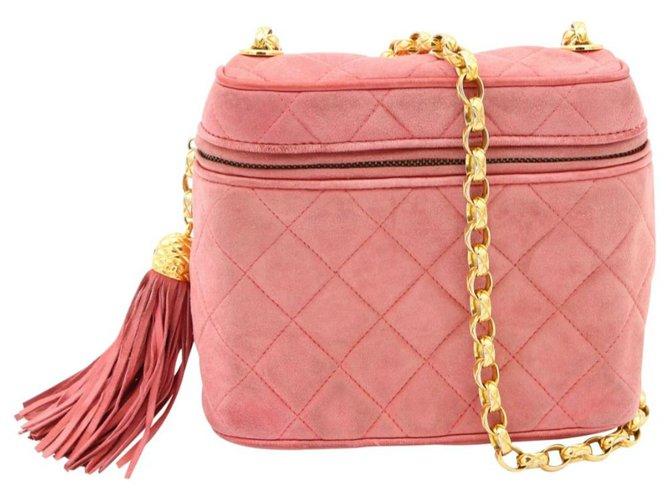 Chanel Chain Crossbody Bag Pink Fur  ref.254872