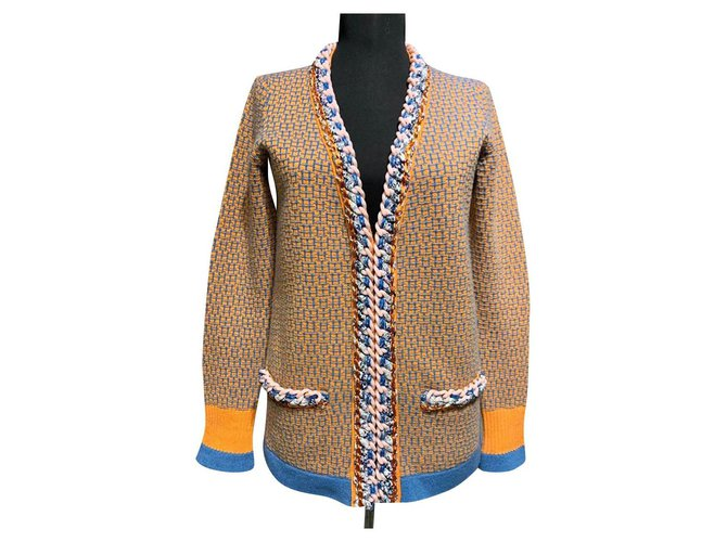 Chanel chain trim cardigan Knitwear Cashmere Multiple colors ref.254973
