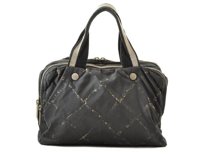 Chanel handbag Black Synthetic  ref.255637