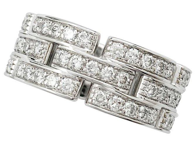 """Bagues Cartier Bague Cartier """"Maillon Panthère"""" or blanc, diamants. Or blanc Autre ref.256091"""