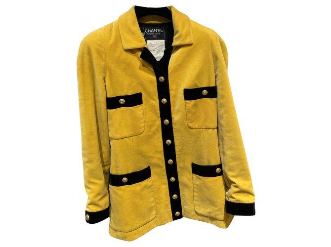 Chanel Jackets Jackets Cotton Black,Yellow ref.256438