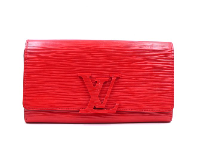 Louis Vuitton Louis Vuitton Red Epi Leather Bifold Long Wallet Purses, wallets, cases Leather Red ref.256478