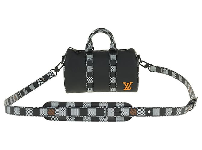Louis Vuitton New / Limited edition / Men's fashion shows 2021/ Louis Vuitton Keepall Nano bag Handbags Leather,Cloth Black,Orange,Grey ref.257130