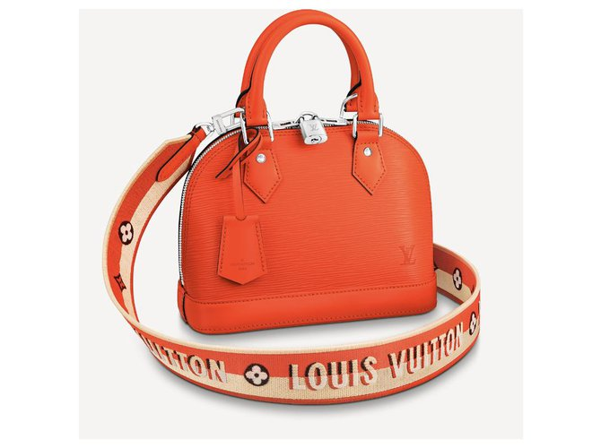 Louis Vuitton LV Alma epi leather orange Handbags Leather Orange ref.257680