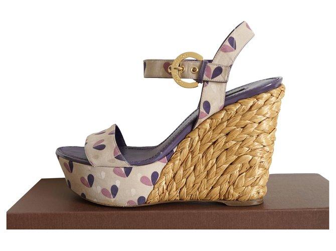 Louis Vuitton Sandals Sandals Silk Multiple colors ref.257763