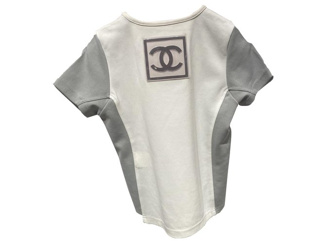 Chanel Tops Tops Polyamide White,Grey ref.258270