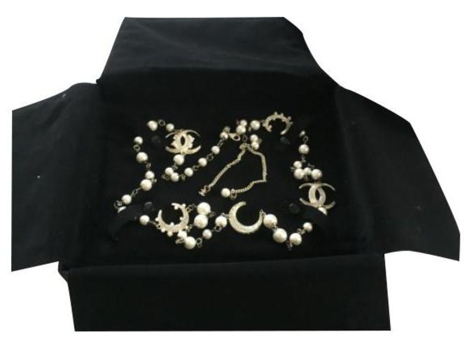 Chanel Necklaces Gold hardware Pearl  ref.258471