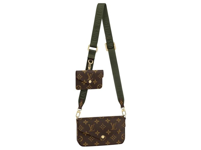 Louis Vuitton LV Felicie strap & go Brown  ref.258700