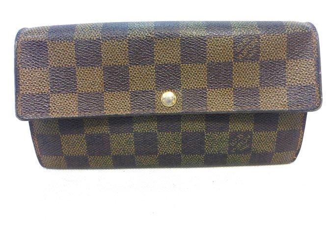 Louis Vuitton SARAH CB DAMIER EBONY Purses, wallets, cases Leather Brown ref.258877