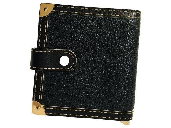 Louis Vuitton Purses, wallets, cases Purses, wallets, cases Leather Black,Cognac,Gold hardware ref.258902