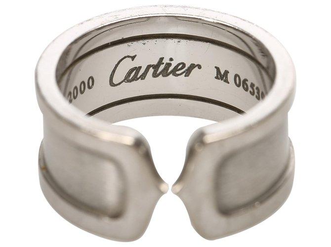Bagues Cartier Cartier Argent 18K C2 Bague Autre,Métal Argenté ref.258973