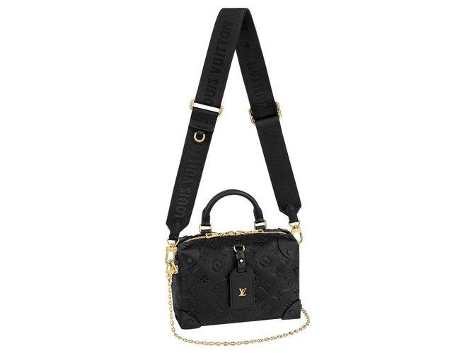 Louis Vuitton LV Petite Malle Souple Black Leather  ref.259094