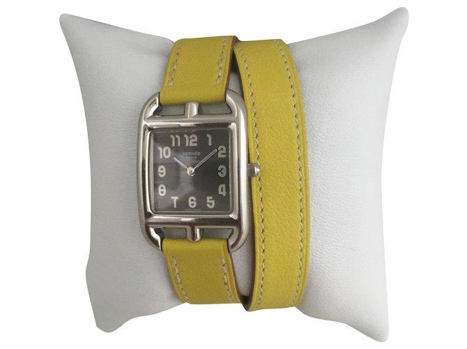 Hermès Cape Cod PM Fine watches Steel Black ref.259103