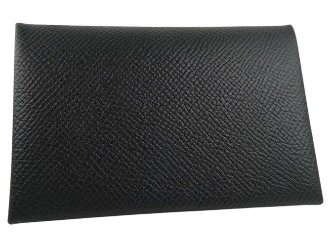 Hermès Hermès clutch Clutch bags Leather Black ref.259640