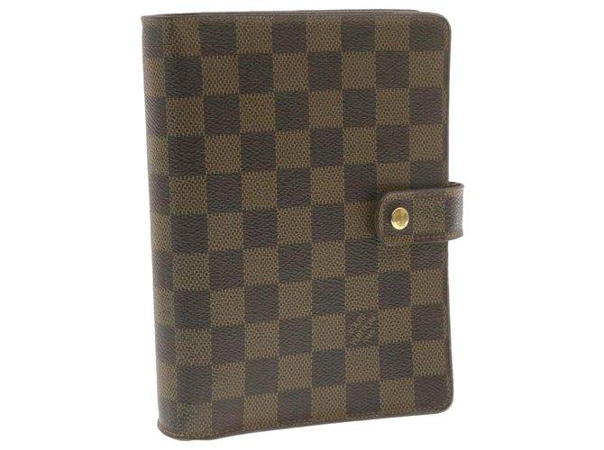 Louis Vuitton Louis Vuitton Agenda Cover Purses, wallets, cases Cloth Brown ref.260029