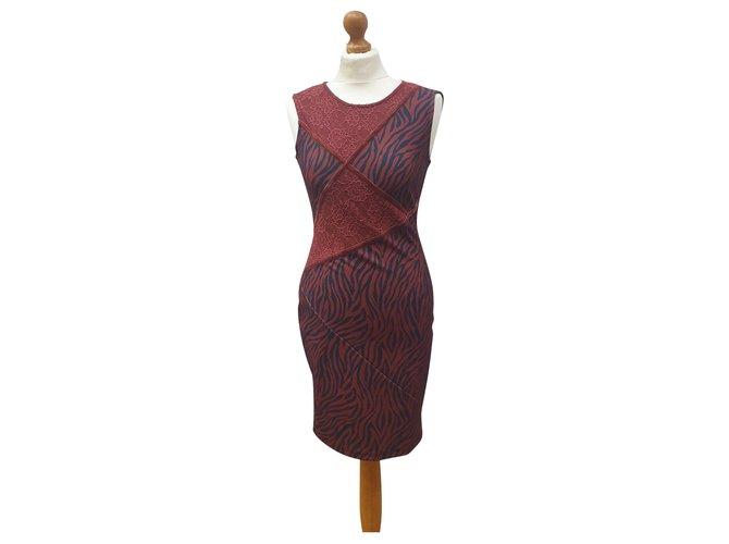 Liu Jo Liu Jo Zebra Kleid Mit Spitze Kleider Polyester Mehrfarben Ref 260281 Joli Closet