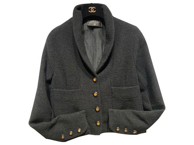 Chanel Jackets Jackets Wool Black ref.260772