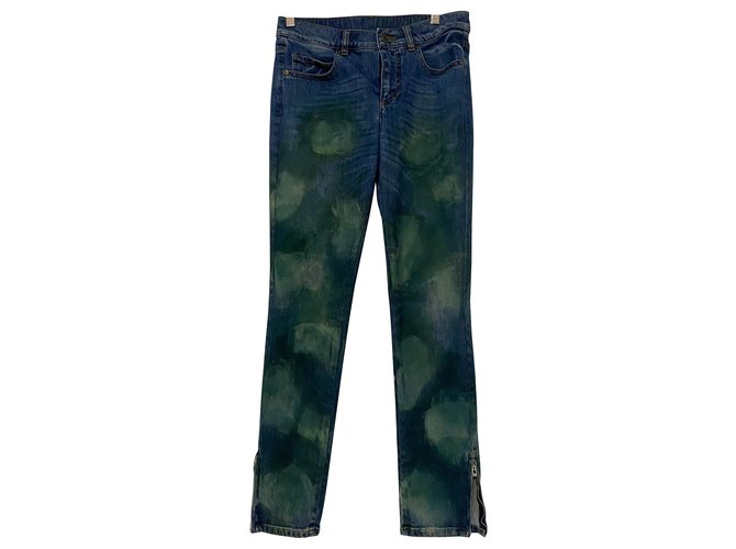 Chanel Jeans Jeans Cotton Blue,Green ref.260778