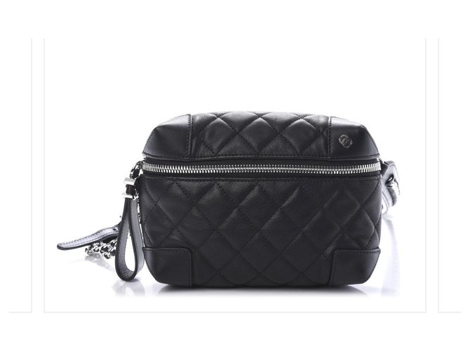 Chanel Handbags Handbags Leather Black ref.261104