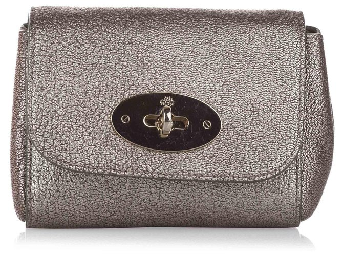 Mulberry Mulberry Gold Mini Lily Leather Crossbody Bag Handbags Leather,Pony-style calfskin Golden ref.261525