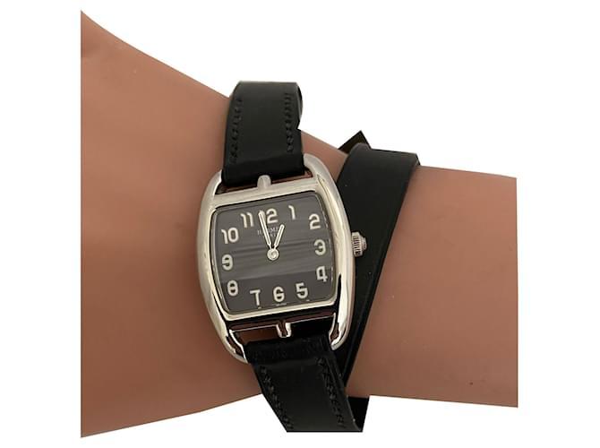 Hermès Cape Cod Barrel Fine watches Steel Black ref.261651