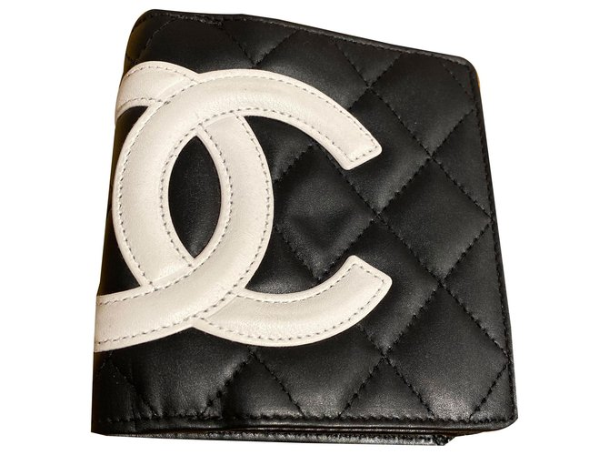 Chanel Wallets Wallets Leather Black,White ref.261671