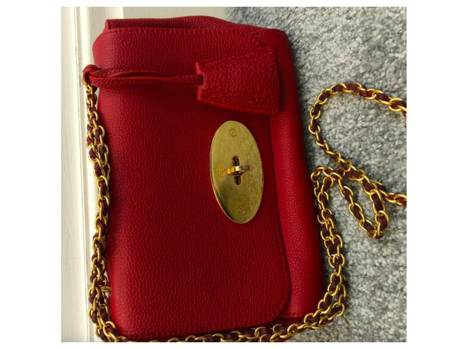 Mulberry Mulberry Red Lily Leather Crossbody Bag Handbags Leather,Other,Metal,Pony-style calfskin Red ref.262386