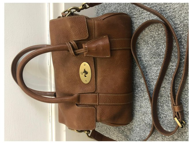 Mulberry Mulberry Brown Bayswater Leather Satchel Handbags Leather,Pony-style calfskin Brown ref.262467
