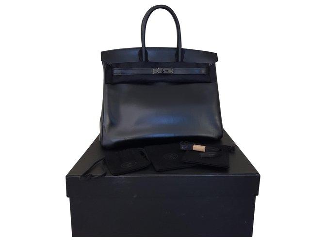 Hermès Birkin 35  So Black Leather  ref.262889
