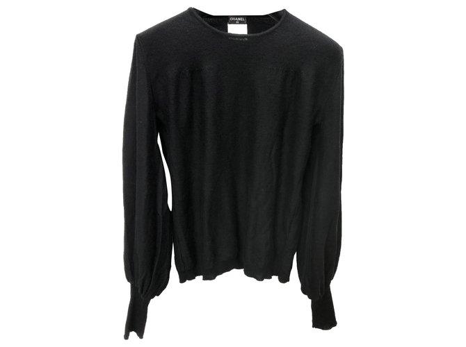Chanel Knitwear Black Wool  ref.263307