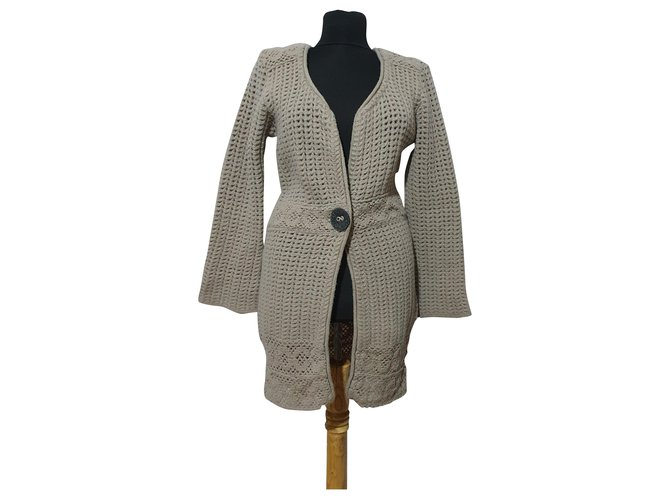 Elisa cavaletti Knitwear Beige Wool  ref.263684