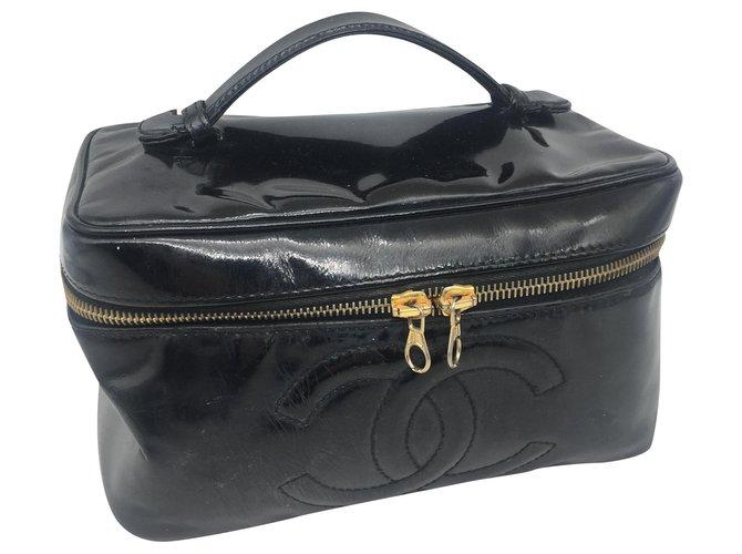 Chanel Vanity Black Patent leather  ref.263723