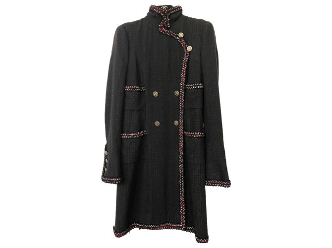 Chanel 8,5K$ Shanghai jacket coat Jackets Tweed Black ref.263916