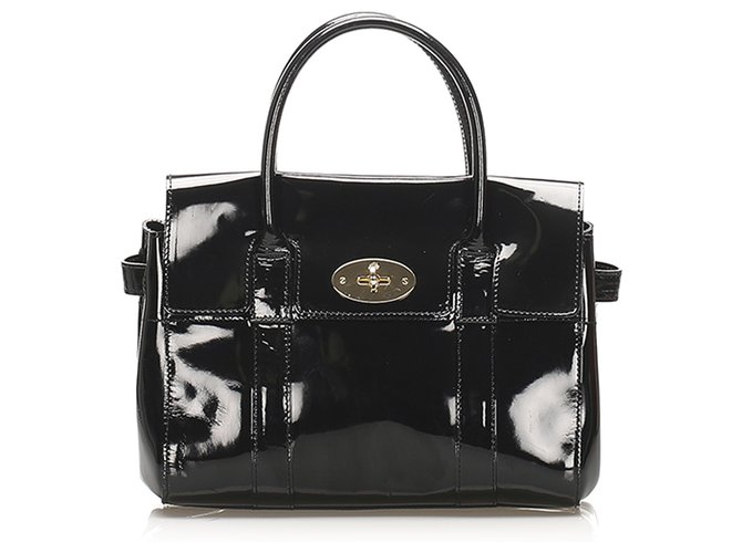 Mulberry Mulberry Black Bayswater Patent Leather Handbag Handbags Leather,Patent leather Black ref.264671