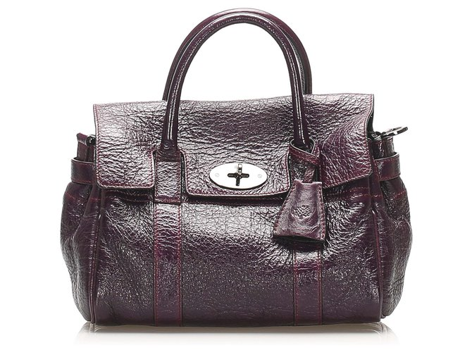 Mulberry Mulberry Purple Bayswater Leather Satchel Handbags Leather,Pony-style calfskin Purple ref.264689