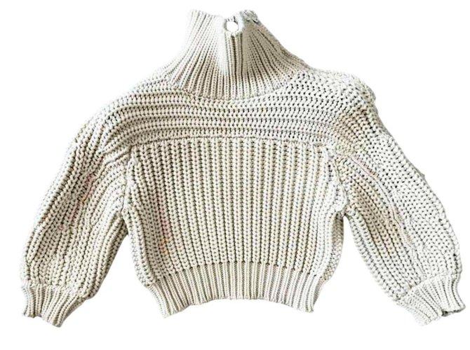 Brunello Cucinelli New 1,5K$ sweater Knitwear Cotton Cream ref.238899