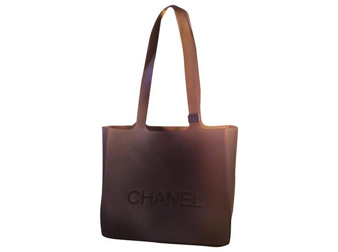 Chanel Plastic bag Grey  ref.264942