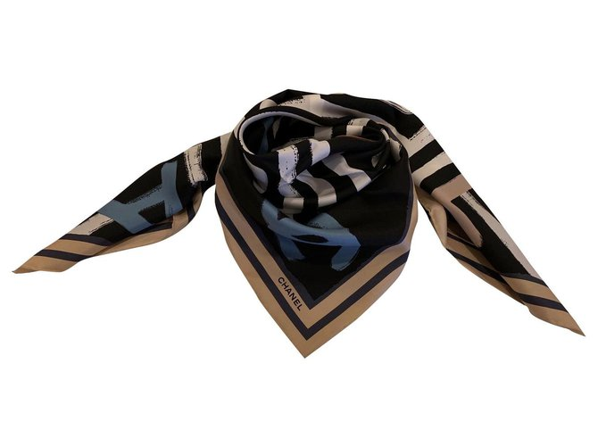 Chanel SCARF CHANEL SILK Scarves Silk Multiple colors ref.265366