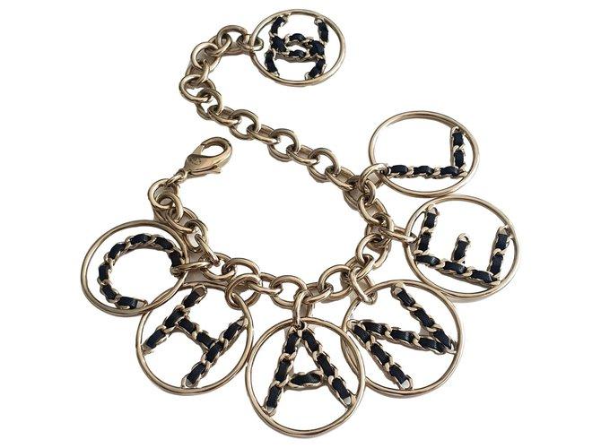 Chanel Bracelets Bracelets Leather,Metal Golden ref.265859