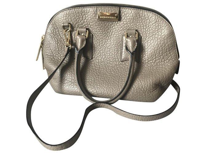 Burberry Burberry leather bag Handbags Leather Grey ref.265912