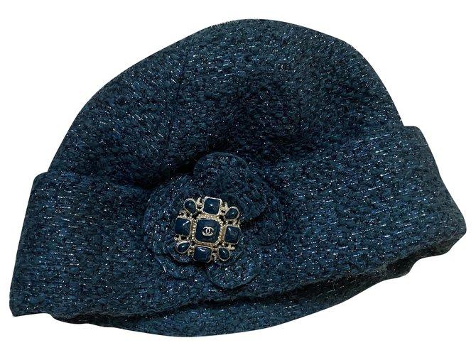 Chanel Hats Hats Wool Green ref.266258