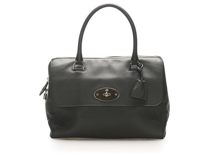 Mulberry Mulberry Black Del Rey Leather Handbag Handbags Leather,Pony-style calfskin Black ref.266481