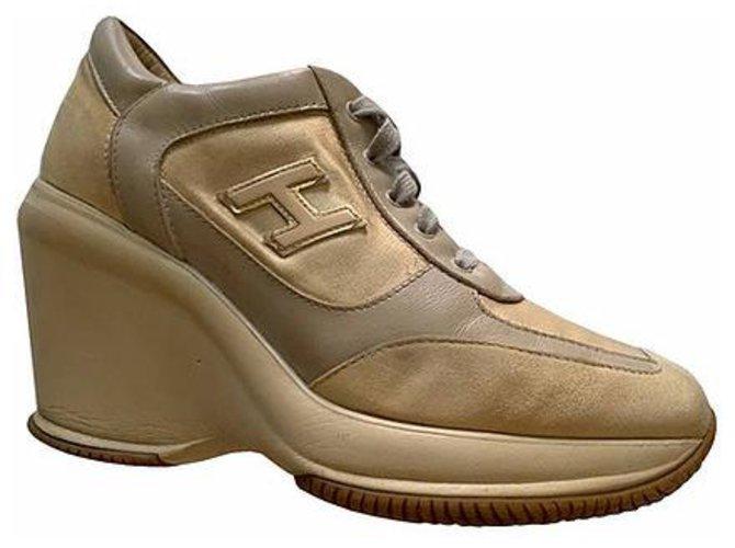 Hogan Sneakers Sneakers Leather Beige ref.267045 - Joli Closet