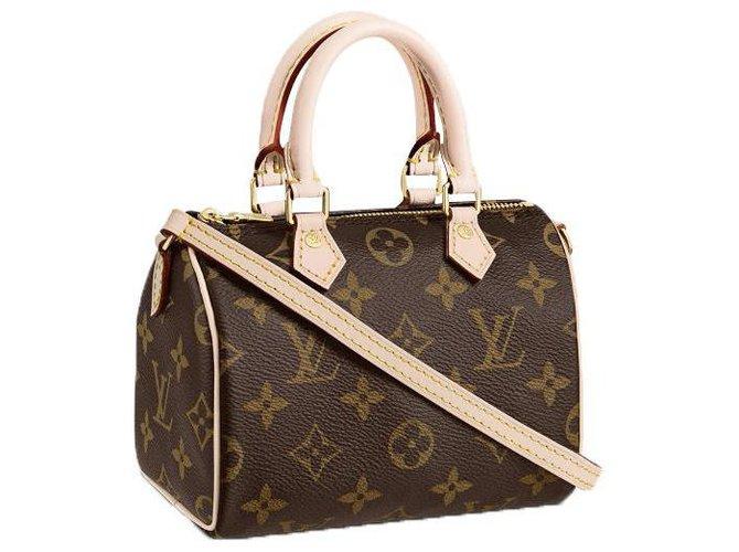 Louis Vuitton LV Speedy Nano new Handbags Leather Brown ref.267250