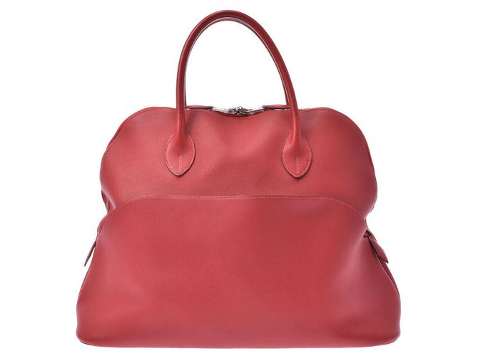 Hermès Hermes Bolide Handbags Leather Red ref.267763