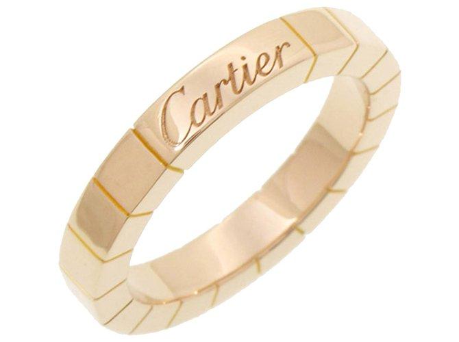 Bagues Cartier Rose Cartier 18Bague K Lanieres Autre,Métal Rose ref.268268