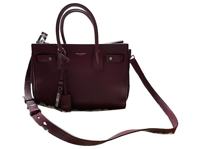 Saint Laurent Sac de jour Bordeaux Handbags Leather Dark red ref.269840
